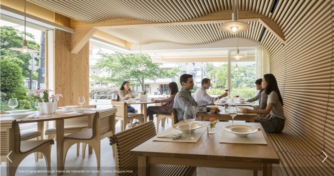 Screenshot_2019-12-13 Shigeru Ban firma Vin Sante + N House, il ristorante di carta - Icon Design