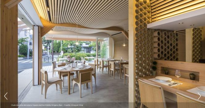 Screenshot_2019-12-13 Shigeru Ban firma Vin Sante + N House, il ristorante di carta - Icon Design(1)